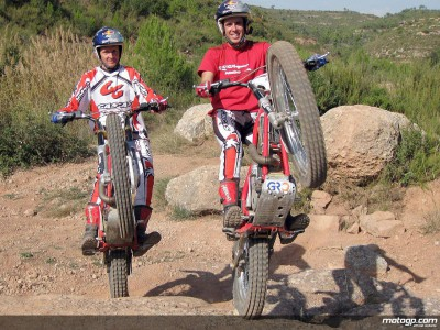 Schwantz goes on Trial training day in Spain