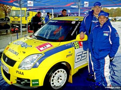 Capirossi sul podio nel rally della Suzuki Swift Sport Cup