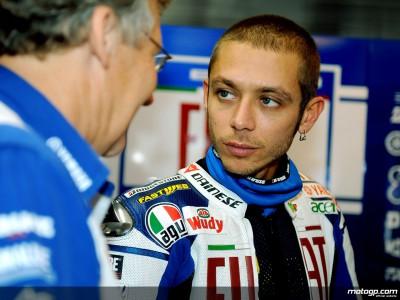 V.ロッシ、F1テスト2日目は雨でコースアウト