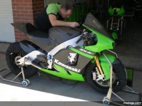 Eastern Creek test for Kawasaki 2009 Ninja ZX-RR