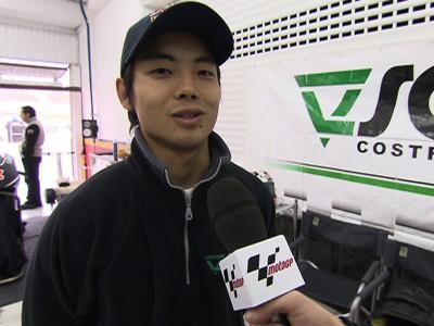 青山博一、スコット・レーシングからテストデビュー