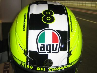 AGV homenajea a Rossi con el casco 'Celebr-8'