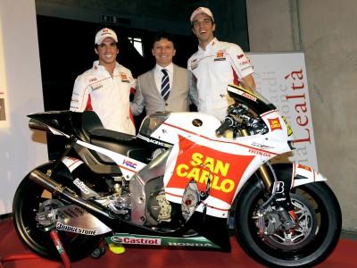 San Carlo Honda Gresini MotoGP Projekt 2009 präsentiert