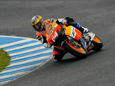 Honda empieza el test preparando la moto para Akiyoshi