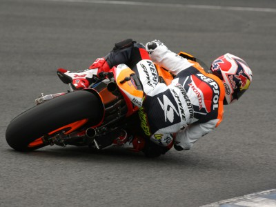 Andrea Dovizioso making progress with the Repsol Honda team in Jerez
