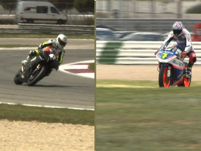 Moto2 bikes compete in CEV qualifying session