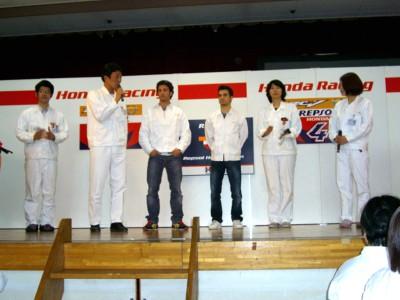 Repsol Honda pair call in at HRC
