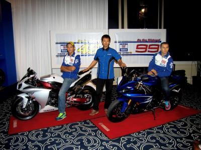Rossi e Lorenzo a Tokio con la Yamaha