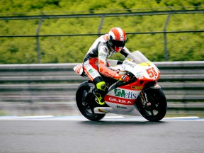 Simoncelli on 250cc pole courtesy of qualifying expunction