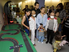 Lorenzo attends children's hospital unit opening