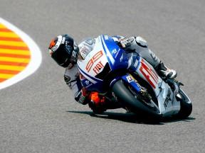 Lorenzo imprendibile nelle fp1 in Italia