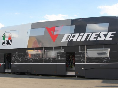 Inside the Dainese D-Mobile truck