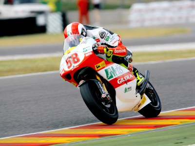 Simoncelli back on top in 250cc practice