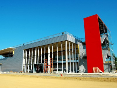 Building work at Spanish Honda Safety Institute at full throttle