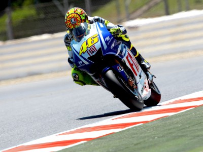 Opening MotoGP session at Montmeló ends with Rossi on top