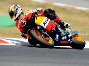 Dovizioso close to front row, Pedrosa crashes and finishes eighth
