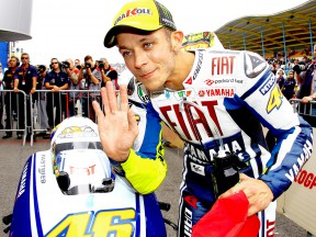 Rossi feeling good after first 'real' pole of 2009