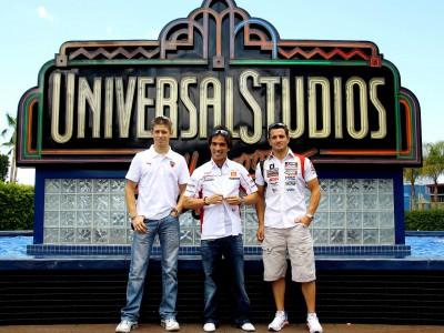 MotoGP stars visit Universal Studios Hollywood theme park