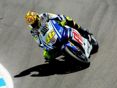 Laguna action gets underway with Rossi leading the way