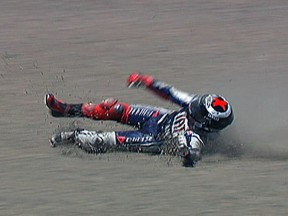 Lorenzo explains big highside crash