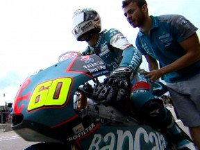 Rain halts dry setup work in first 125cc session