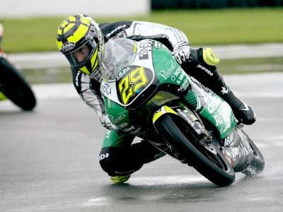 Iannone fastest in wet 125cc warmup
