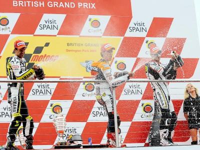 La rueda de prensa post GP de Donington, al completo
