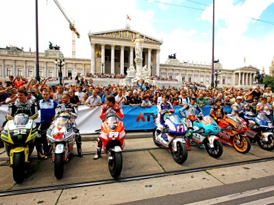 MotoGP riders enjoy Viennese adventure