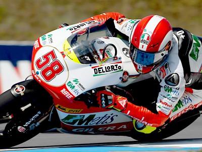 Simoncelli the pace man as 250cc field make final checks