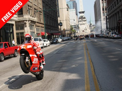 Mamola and Brown take MotoGP to the streets