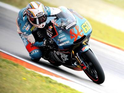 Simón, con el mejor ritmo en el warm up de 125cc