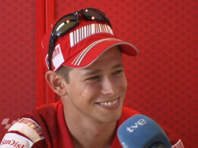 Stoner glad to be back in MotoGP paddock