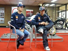 Pedrosa and Dovizioso visit Honda training centre
