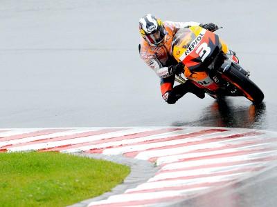Pedrosa happy with wet podium