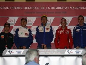 Cuatro estrellas y un wild card en la rueda de prensa de Valencia