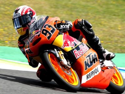 Márquez, delante en el warm up