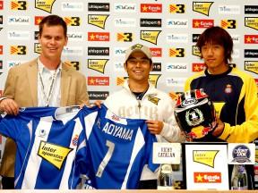 Aoyama zu Besuch bei RCD Espanyol