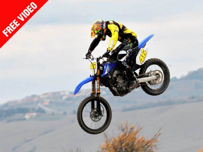 Rossi thrilled with charity motocross event