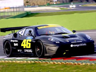 Rossi excels in Ferrari 430 in Vallelunga