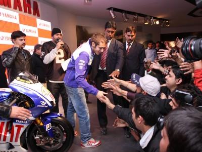Valentino Rossi desfruta de viagem à Índia