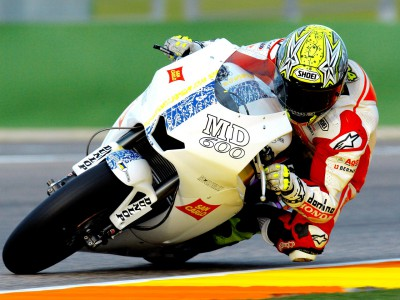 Elias con Gresini Moto2. Al suo fianco Ivanov