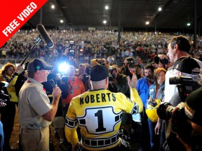 Watch Kenny Roberts at the Indy Mile 34 years later