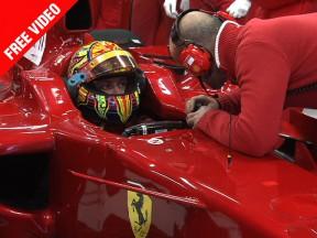 Rossi ya rueda en Montmeló con el Ferrari F2008