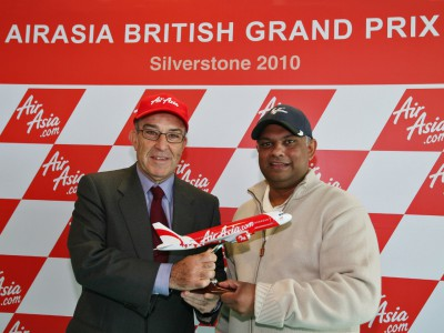 AirAsia signs as title sponsor for 2010 British Grand Prix