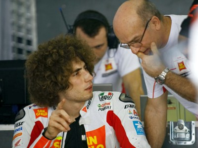 Marco Simoncelli's test ends early