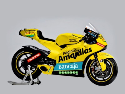Barberá and his Ducati bright in yellow