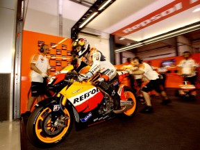 The Repsol Honda Team box, a MotoGP laboratory