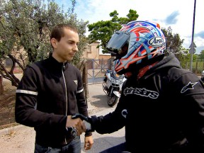 Lorenzo participates in road safety campaign for motorcyclists