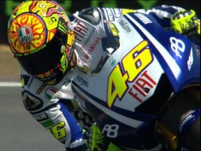 Rossi annonce la couleur dès la première séance d'essais au Mans