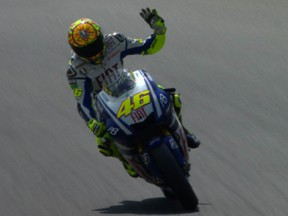 Rossi takes control in French sunshine and secures pole